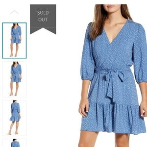 Gibson Blue The Motherchic Paloma Woven Wrap Dress